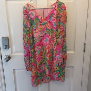Lilly Pulitzer flamingo print dress-worn once!